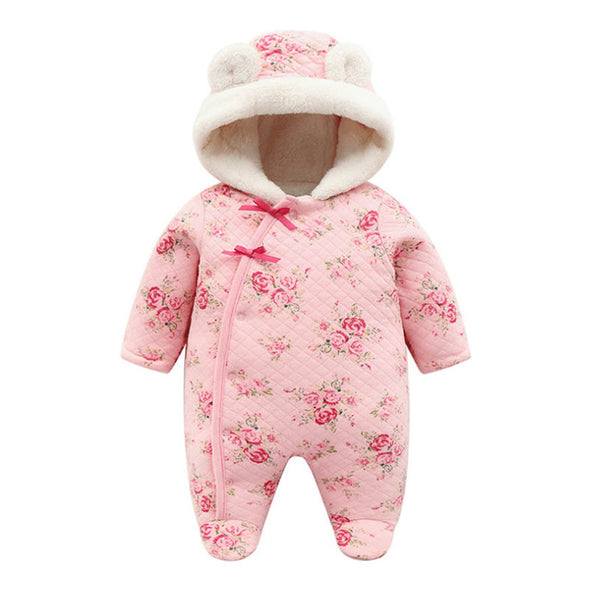 Cute Baby Girl Flower Pattern Jumpsuit
