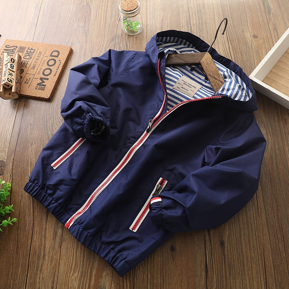 Kids Casual Hooded Windbuster