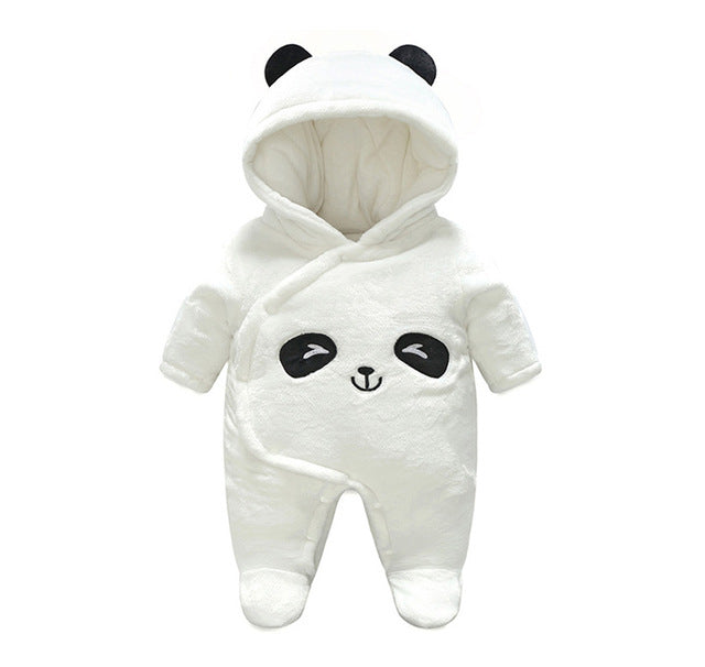 Adorable Baby Panda Hooded Jumpsuit
