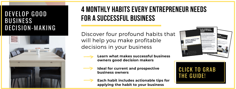 4 monthly habits for business success