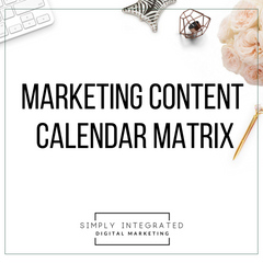 Marketing Content Calendar Matrix