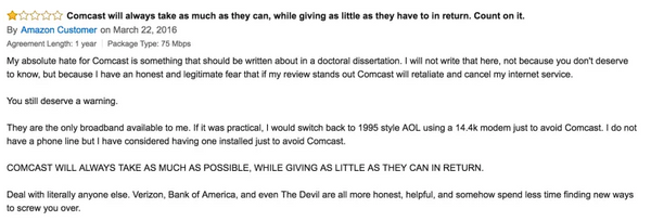 Funny Comcast Review