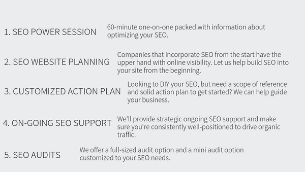 5 Main SEO Services