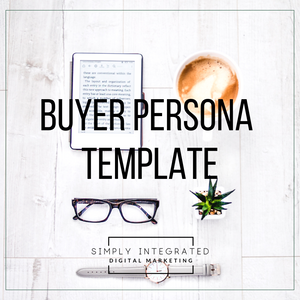 Buyer Persona Template, Client Avatar Template, buyer persona matrix