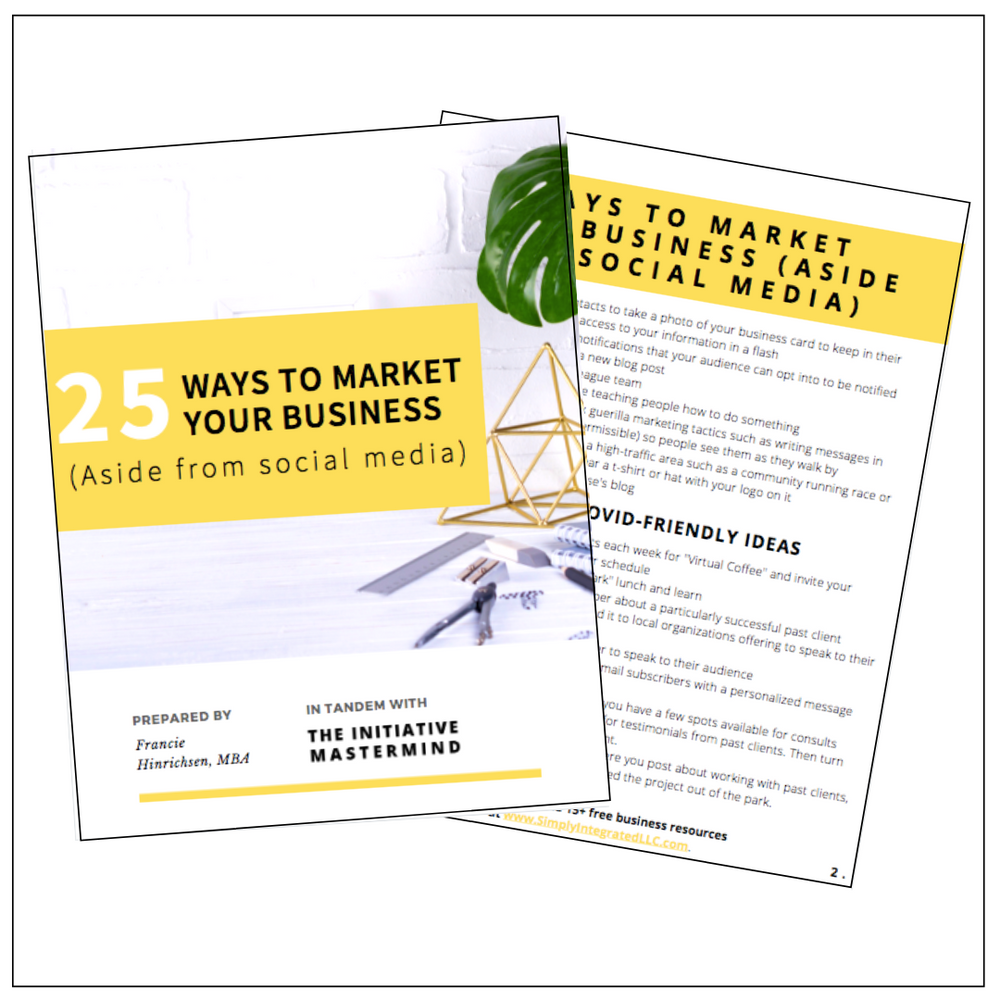 25 Ways to Market Your Business (Plus 10 COVID-Friendly Bonus Ideas!)