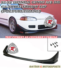 Load image into Gallery viewer, 92-95 Honda Civic 2/3Dr C-2 Style Front Bumper Lip (Polyurethane)