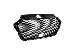 RS3 Style Front Grille (Black) For 2017-2020 Audi A3 S3 (8V) - Bayson R Motorsports