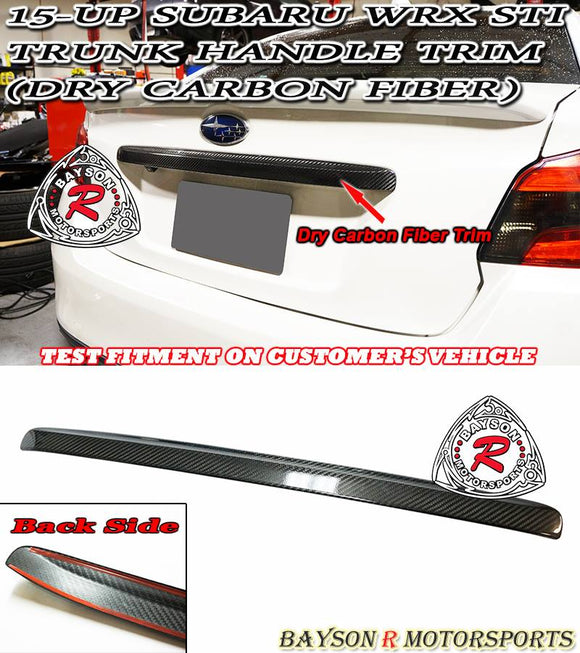 Carbon Fiber Trunk Garnish Trim For 2015-2020 Subaru WRX STi - Bayson R Motorsports