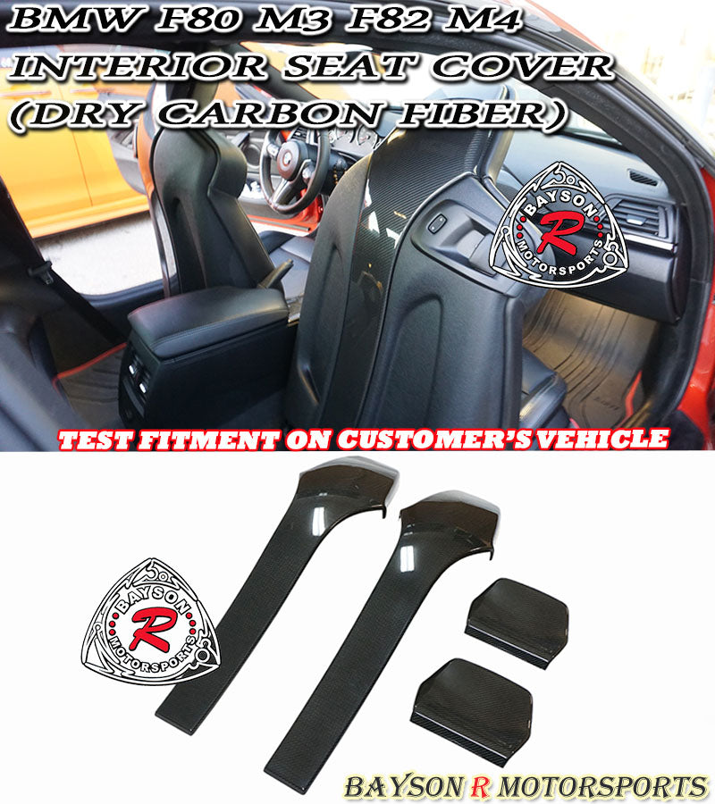 15-19 BMW F80 M3 / F82 M4 Interior Seat Cover (Carbon Fiber)