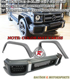 02-18 Mercedes-Benz G-Class W463 G63 / G65-Style Front Bumper + Fender Flare (PP) - Bayson R Motorsports