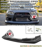 VT Style Front Lip with Lower Splitter For 2008-2015 Mitsubishi Lancer Evolution X - Bayson R Motorsports