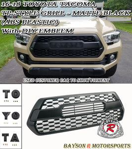TP Style Front Grille Insert with DIY Letters For 2016-2018 Toyota Tacoma - Bayson R Motorsports