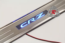 Load image into Gallery viewer, 11-16 Honda CR-Z 2dr JDM Style Side Door Sill (Stainless Steel) + Blue LED
