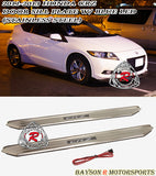 11-16 Honda CR-Z 2dr JDM Style Side Door Sill (Stainless Steel) + Blue LED