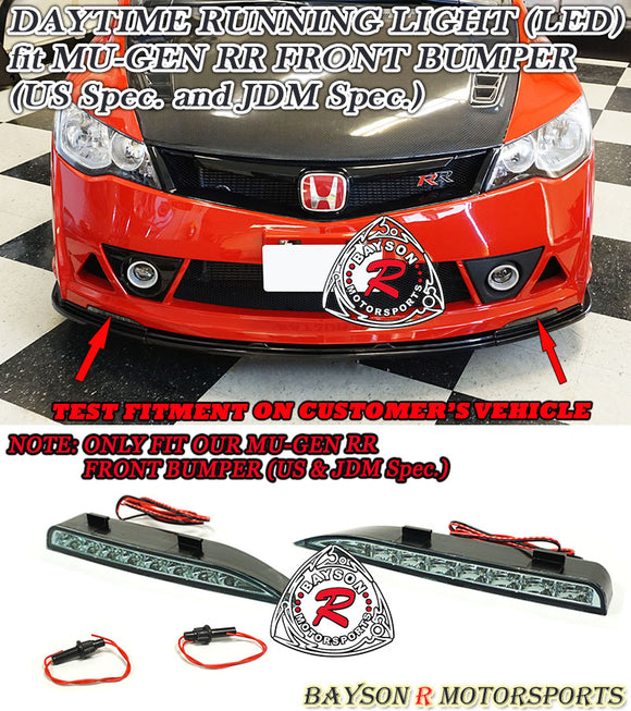 LED Daytime Running Light For 2006-2011 Honda Civic MURR Front Bumper - Bayson R Motorsports