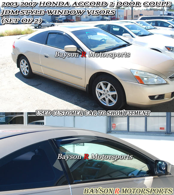 03-07 Honda Accord 2Dr JDM Side Window Rain Guard Visors (Tinted) - Bayson R Motorsports