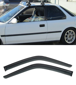 90-93 Honda Accord 2dr JDM Side Window Rain Guard Visors (Tinted) - Bayson R Motorsports