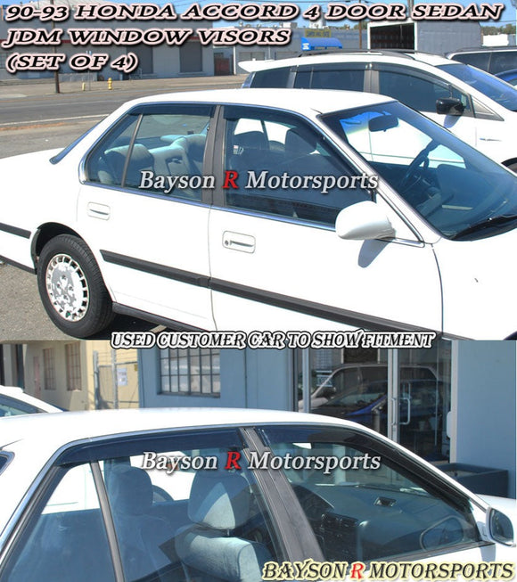 JDM Style Window Visors For 1990-1993 Honda Accord 4Dr - Bayson R Motorsports