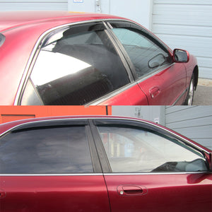 94-97 Honda Accord 4dr JDM Side Window Rain Guard Visors (Tinted)