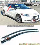 JDM Style Window Visors For 2011-2016 Honda CR-Z - Bayson R Motorsports