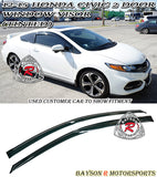 JDM Style Window Visors For 2012-2015 Honda Civic 2Dr - Bayson R Motorsports