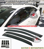 OE Style Window Visors w/ Clips For 2017-2020 Honda Civic 5Dr - Bayson R Motorsports