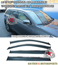 Load image into Gallery viewer, 14-18 Toyota Highlander Window Rain Guard Visors w/ Clips (Tinted)