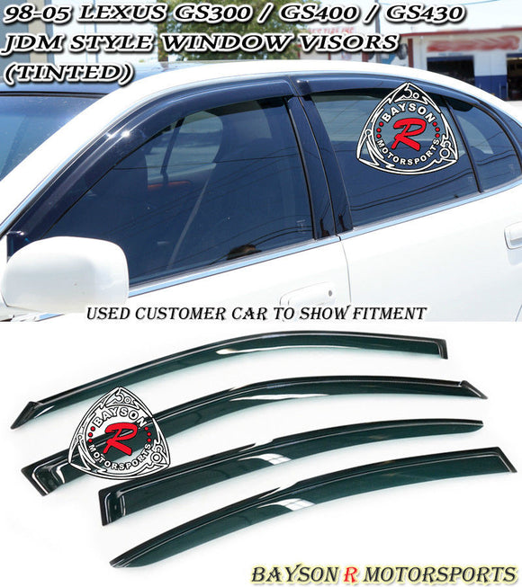 JDM Style Window Visors For 1998-2005 Lexus GS - Bayson R Motorsports