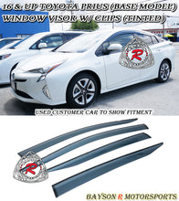 Load image into Gallery viewer, 16-18 Toyota Prius 4dr JDM Side Window Rain Guard Visors (Tinted)