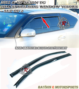 11-14 Scion tC JDM Side Window Rain Guard Visors (Tinted)