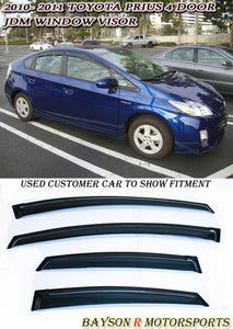 JDM Style Window Visors For 2010-2015 Toyota Prius 4 Dr - Bayson R Motorsports