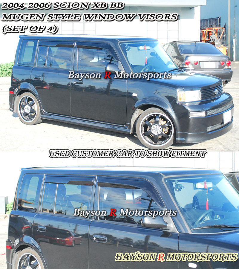 04-06 Scion xB Mu-gen Style Side Window Rain Guard Visors (Tinted)