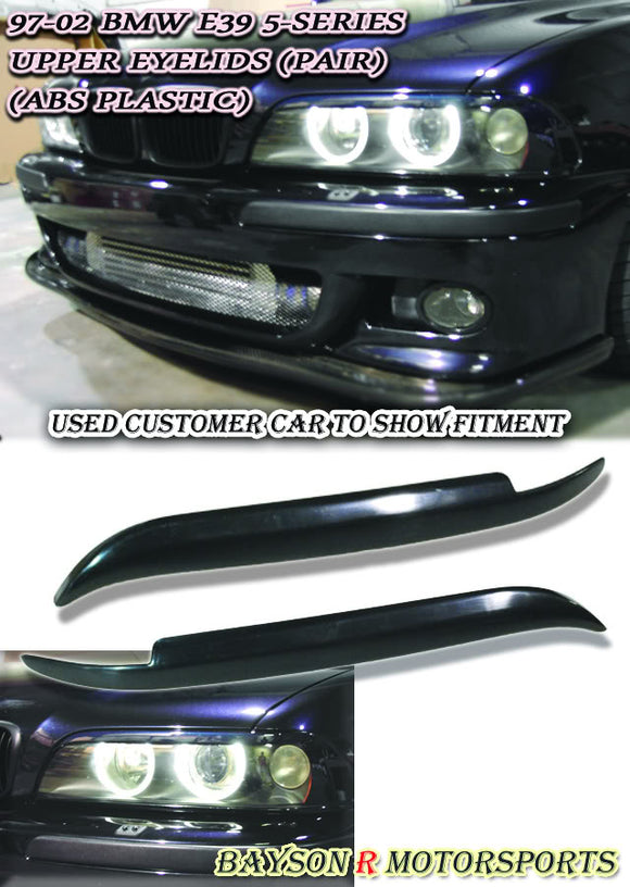 Upper Headlight Eyelids For 1997-2003 BMW 5 Series - Bayson R Motorsports