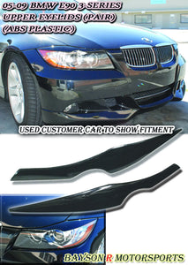 Upper Headlight Eyelids For 2005-2008 BMW 3-Series E90 - Bayson R Motorsports