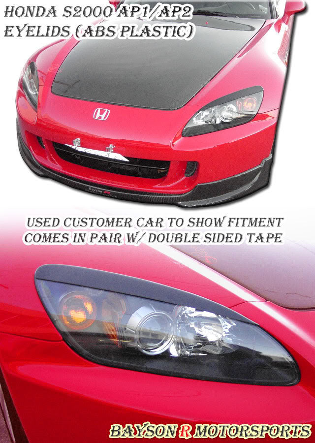 00-09 Honda S2000 AP1 AP2 Headlight Covers Eyebrows Eyelids