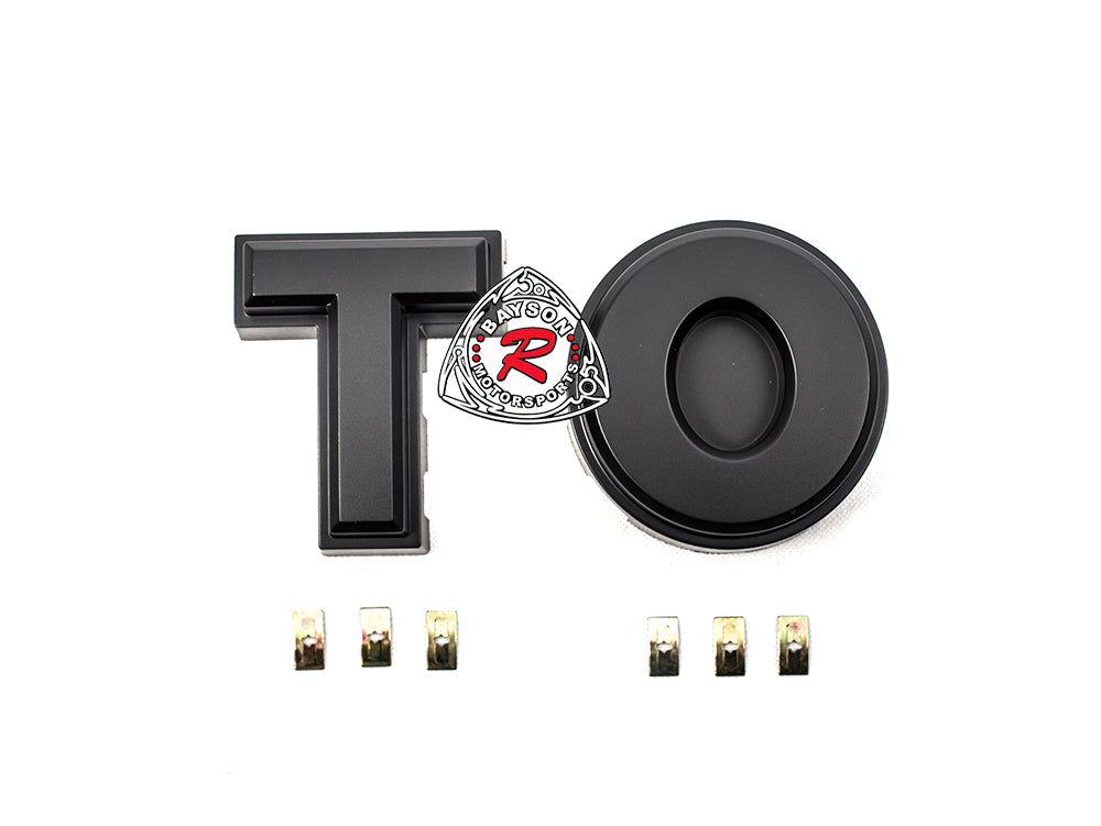 DIY (T + O) Logo Block Letters Fit 16-17 Toyota Tacoma TP-Style Front Grille