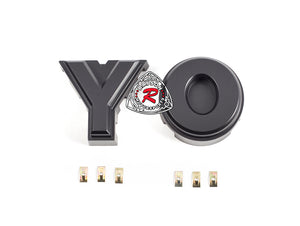 DIY (Y + O) Logo Block Letters Fit 16-17 Toyota Tacoma TP-Style Front Grille