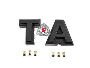 DIY (T + A) Logo Block Letters Fit 16-17 Toyota Tacoma TP-Style Front Grille - Bayson R Motorsports