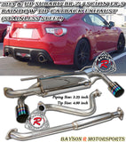 Rainbow Tip Catback Exhaust (Stainless Steel) For 2012-2016 Toyota FT86 / Scion FR-S / Subaru BRZ - Bayson R Motorsports