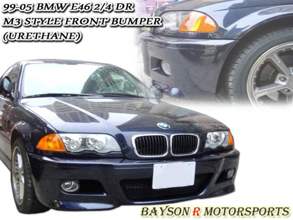 M3 Style Front Bumper For 2000-2003 BMW 3 Series E46 4Dr - Bayson R Motorsports