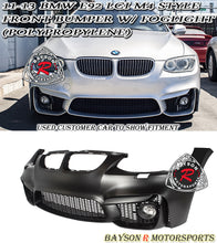 Load image into Gallery viewer, 11-13 BMW E92/E93 2dr M4 Style Front Bumper (PP) + Fog Lights