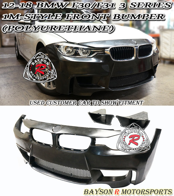 12-18 BMW F30 F31 3-Series 1M Style Front Bumper Cover (Polyurethane)