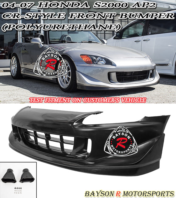CR Style Front Bumper w/ Air Ducts For 2004-2009 Honda S2000 - Bayson R Motorsports