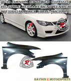 06-11 Honda Civic (JDM Spec) / Acura CSX 4dr Sedan Fenders w/ Side Marker Cut Out (Steel) - Bayson R Motorsports