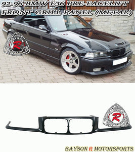 92-96 BMW E36 3-Series Pre-Facelift Front Grill Nose Panel Garnish (Metal)
