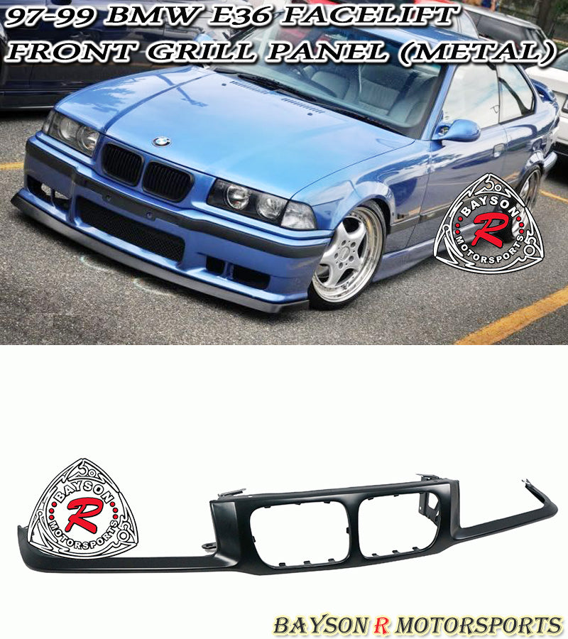 97-99 BMW E36 3-Series Facelift Front Grill Nose Panel Garnish (Metal)