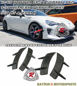 12-18 Scion FR-S / Toyota 86 T-Style Aero Turbulators (EPDM) - Set of 4
