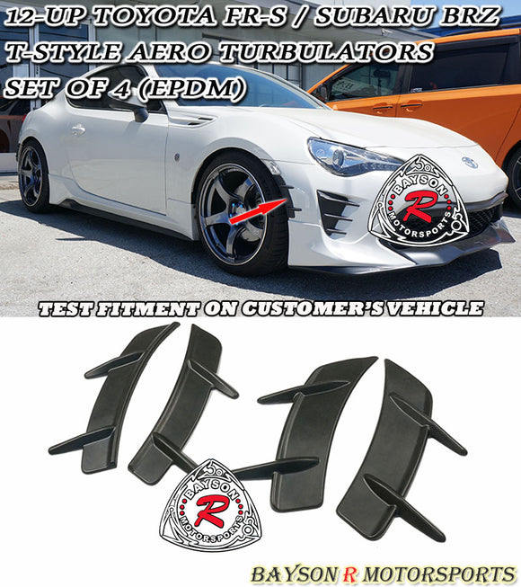 12-20 Scion FR-S / Toyota 86 T-Style Aero Turbulators (EPDM) - Set of 4 - Bayson R Motorsports