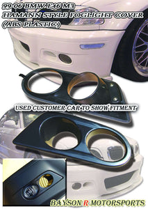 H-Style Foglight Covers For 2001-2006 BMW 3-Series E46 M3 - Bayson R Motorsports