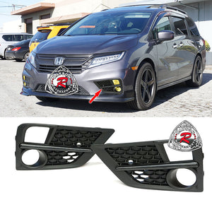 Fog Light Covers w/ Black Trim For 2018-2020 Honda Odyssey - Bayson R Motorsports